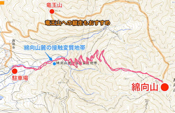 綿向山 登山地図