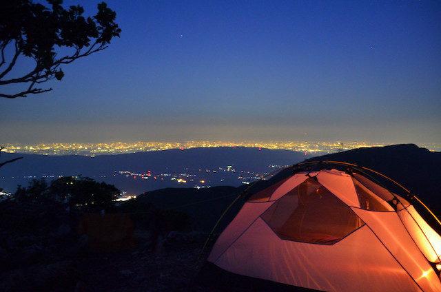奥の平 キャンプ地