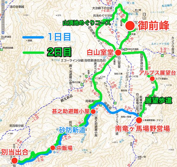 白山 登山コース