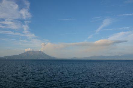 桜島 噴煙