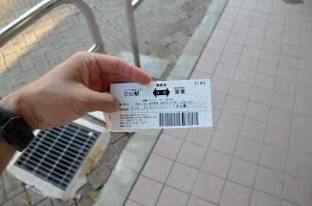 立山駅 室堂駅 往復切符