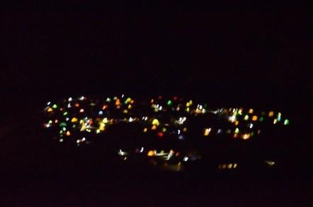 雷鳥沢キャンプ場 テントの明かり