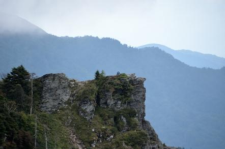 美ヶ原高原 ハイキング道 アルプス展望コース 烏帽子岩
