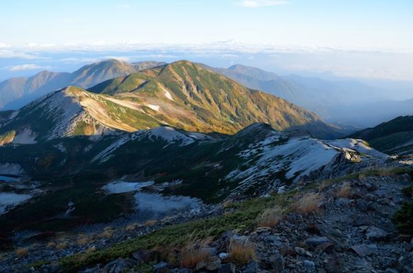 雪倉岳方面