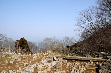 霊仙山 榑ヶ畑登山道 5合目 見晴台