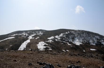 霊仙山 榑ヶ畑登山道 霊仙山山頂方面