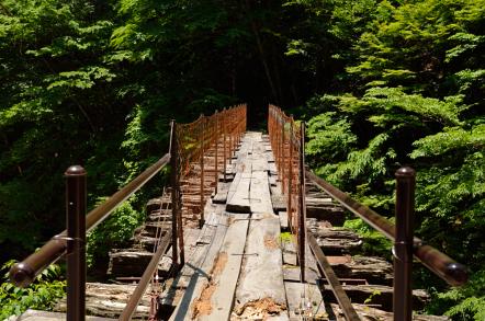 阿寺渓谷 森林鉄道