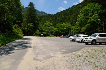 阿寺渓谷 阿寺川 樽ヶ沢の滝 駐車場
