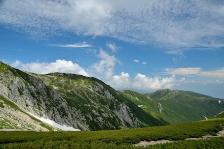 木曽駒ヶ岳 将棊頭山方面