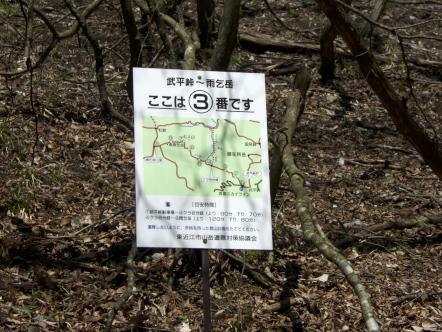 雨乞岳 登山 武平峠コース 3番