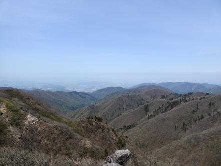 雨乞岳から琵琶湖