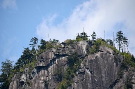 田立の滝 不動岩展望