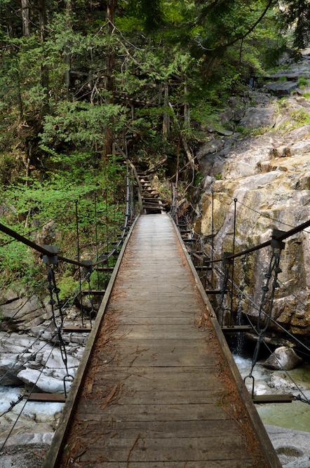 田立の滝 不動橋