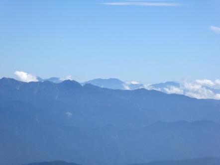 御嶽山 南アルプス方面