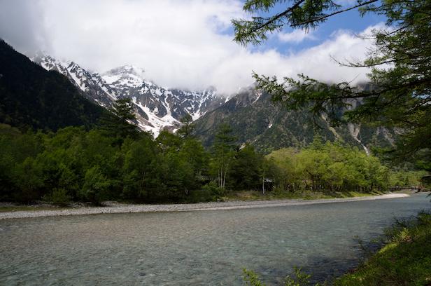 上高地 梓川 河川
