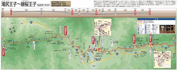 滝尻王子〜近露王子〜継桜王子 地図 その2