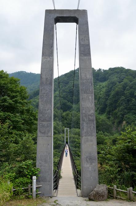 白山 砂防新道 吊橋