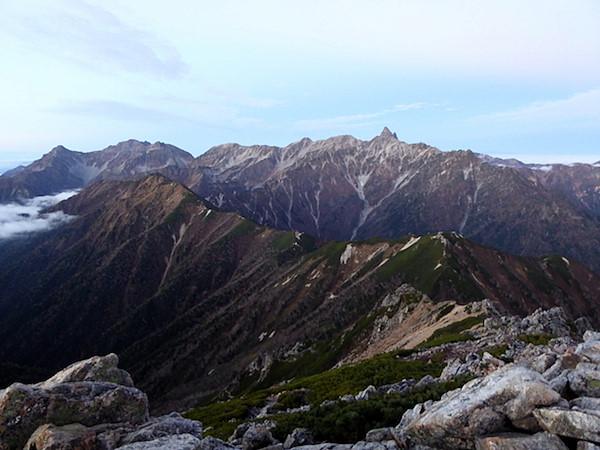 大天井岳 山頂からの眺め