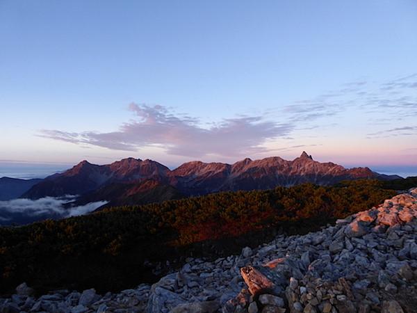 大天井岳 日の出