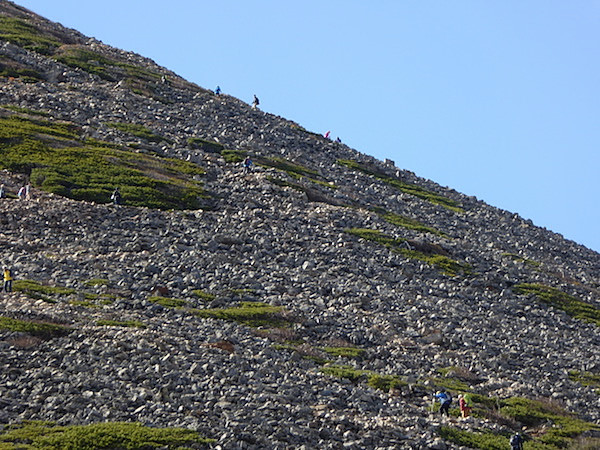 常念岳 登山