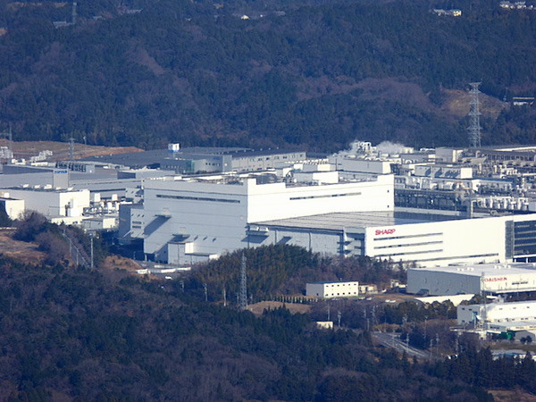 錫杖ヶ岳 山頂からの眺め シャープ亀山工場