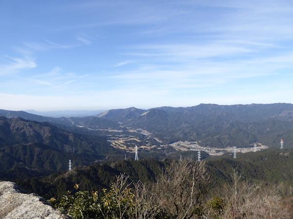 錫杖ヶ岳 山頂からの眺め 琵琶湖方面