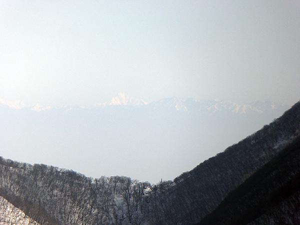 綿向山 山頂からの眺め 塩見岳