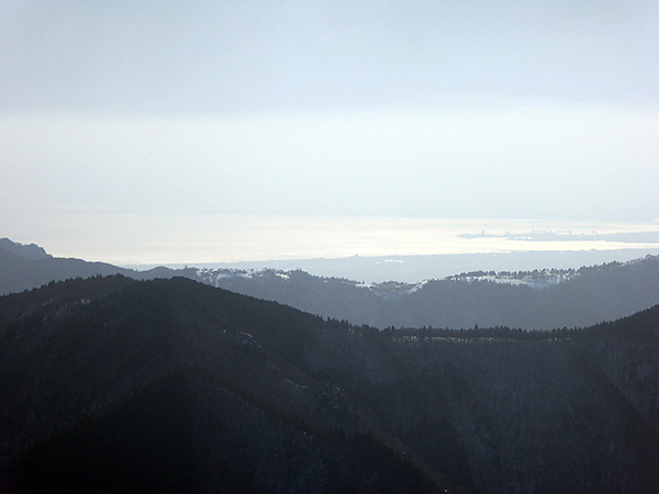 綿向山 山頂からの眺め 伊勢湾