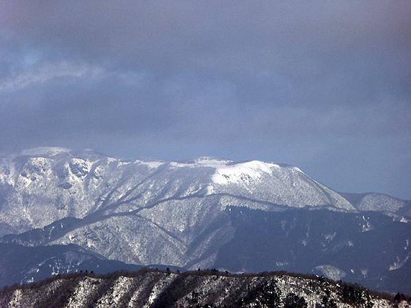 綿向山 山頂からの眺め 藤原岳