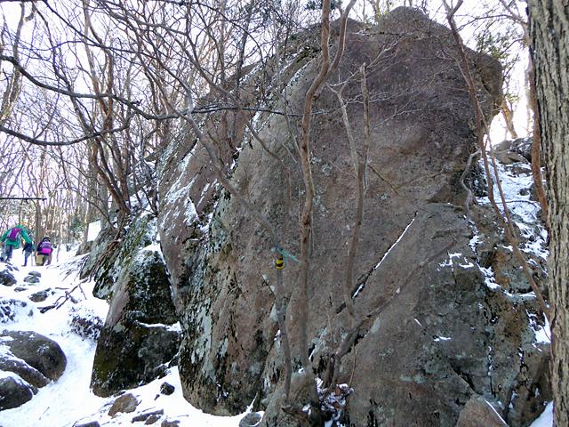 高見山 平野登山道 国見岩