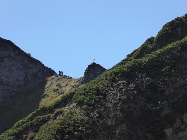 唐松岳 八方尾根登山道