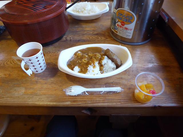 唐松岳頂上山荘 カレーライス食べ放題