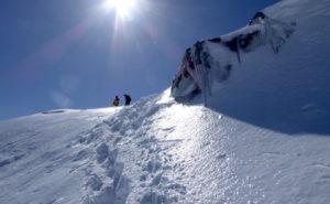 唐松岳 冬 登山