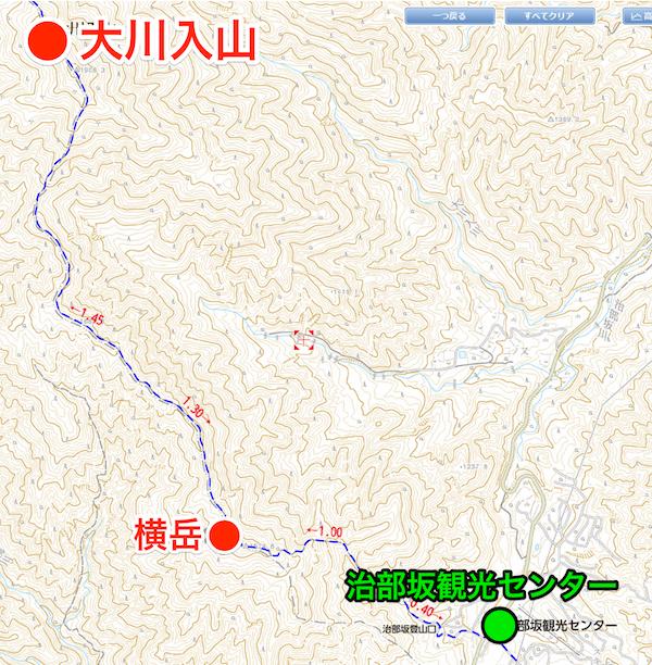 大川入山 登山コース