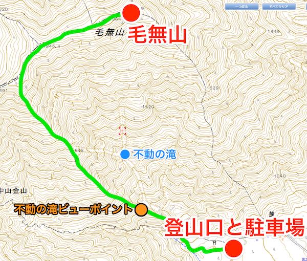 毛無山 登山コース